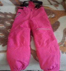 Зимние брюки на девочку 10 лет