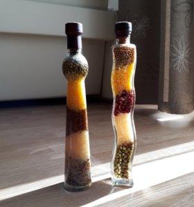 Декоративные бутылки для кухни
