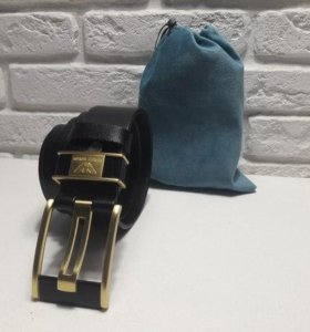Ремень Кожаный Giorgio Armani Унисекс gold