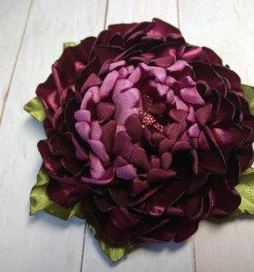 Заколки, ободки с цветами ручной работы