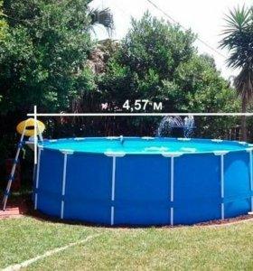 Каркасный бассейн intex (457см x 122см)