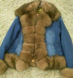 Зимняя джинсовая куртка