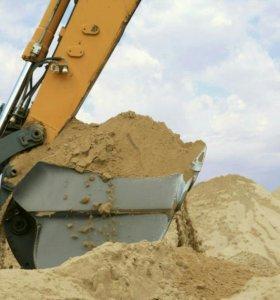 Намывной песок и щебень .