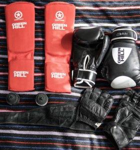 Перчатки, защита, шингарты, мешок