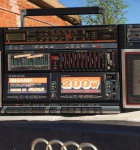 Двухкассетный sharp wf 939z(bk)