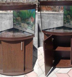 Угловой аквариум с тумбой