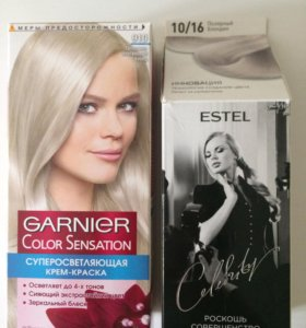 Краска Garnier и Estel блонд