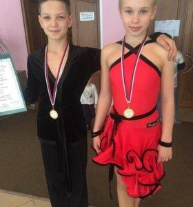Платье для спортивных бальных танцев латина Ю-1