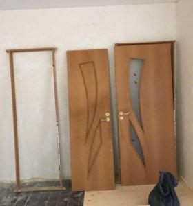 Продам межкомнатные двери и ванну.цена 2000