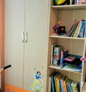 Шкаф,  стеллаж и тумба для детской
