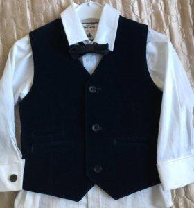 Костюмчик ( рубашка+жилетка)
