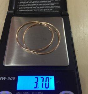 Золотые серьги 585