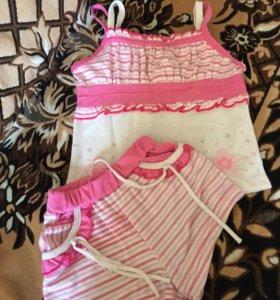 Майка и шорты для девочки