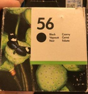 Чёрный картридж 56 для hp 56