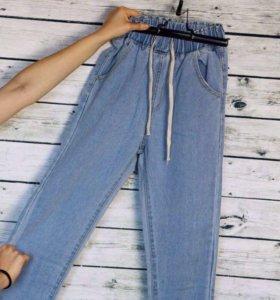 Новые джинсы на высокой талии MOMS