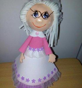 Интерьерная кукла ручной работы.Куклы на заказ