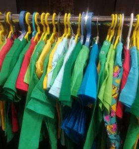 Детские футболки, новые (с этикетками)