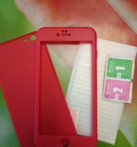 Новые Чехол и стекло для IPhone 6+