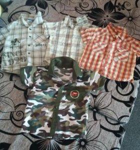Рубашки летние на мальчика (пакетом)