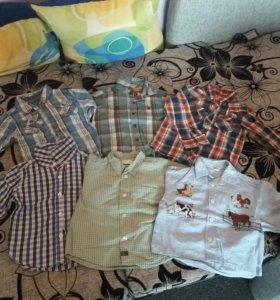 Рубашки на мальчика (пакетом)
