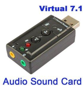 Внешняя звуковая карта USB Sound Adapter 7.1