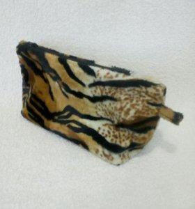 Косметичка из велюра Тигр