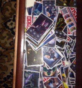 Карточки Мортал комбат205штук продам по штучно