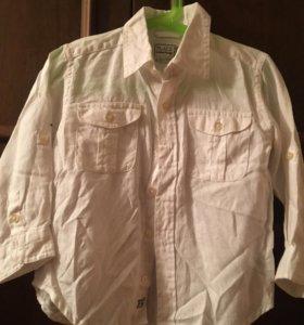 Льняная рубашка белая детская
