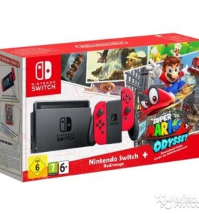 Игровая приставка Nintendo Switch Red Super Mario