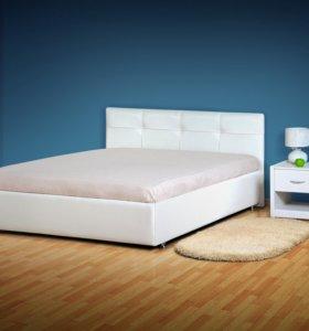 Кровать экокожа эконом