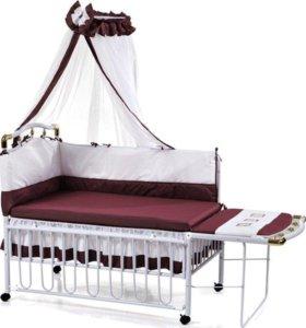 Кроватка детская с люлькой и балдахином