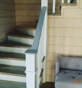 Лестницы из 100% массива березы