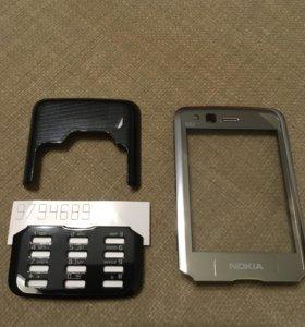 Корпус для Nokia N-82 Silver/Black