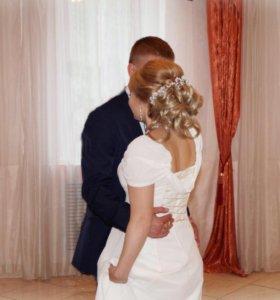 Свадебное платье, подойдёт на выпускной