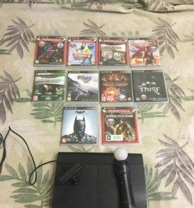 PlayStation 3 SuperSlim 500GB + Игры(Thief,Batman)