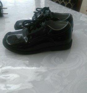 Туфли лаковые на мальчика