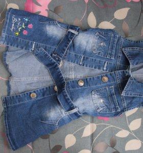 Сарафан джинсовый для девочки 4 года