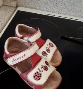Босоножки сандали Kapika кожа 15см