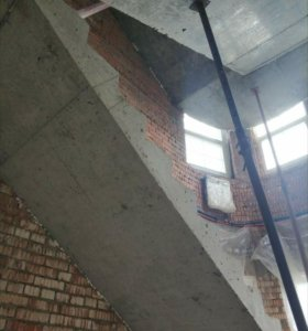 Лестницы монолитные, фундаменты