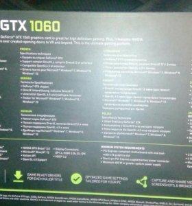 Видеокарта palit nvidia 1060 ,3 гб