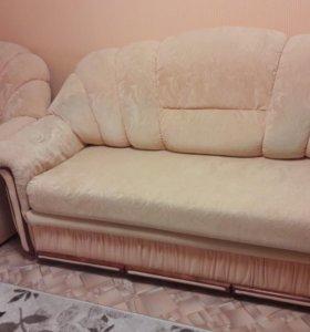 Продам диван+кресло кровать