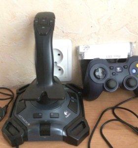 Игровой джойстик и геймпад Logitech выход USB