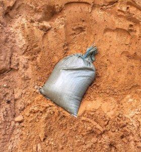 Песок в мешках 30кг речной мытый