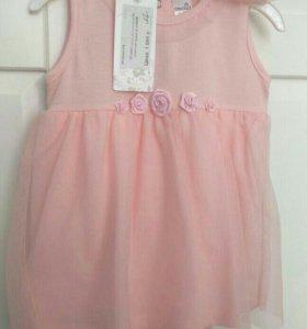 Crockid Новое платье - боди с повязкой, 68