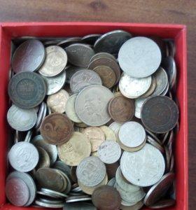 Монеты с 1800 года по 1961 есть редкие