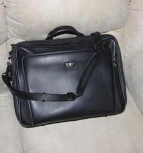 сумка кожаная wanlima мужская