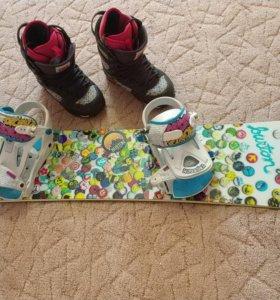 Сноуборд, крепления, обувь