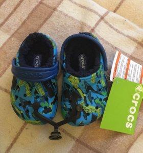 Crocs оригинал кроксы сабо с подкладкой новые