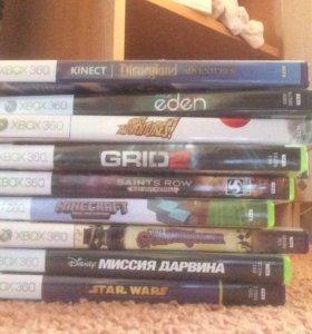 Xbox 360 с играми, кинектом , контроллером