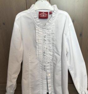 Блузка белая детская р. 128